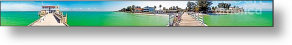 Anna Maria Island With Rod And Reel Pier Metal Print