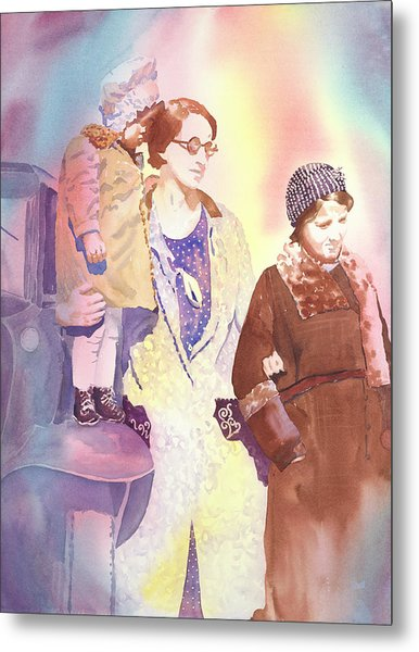 Anna Nation And Her Girls, 1932      Metal Print