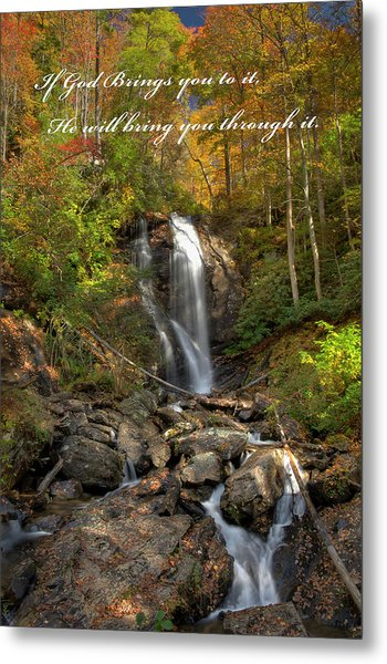 Metal Print featuring the photograph Anna Rby Falls 3 by Penny Lisowski