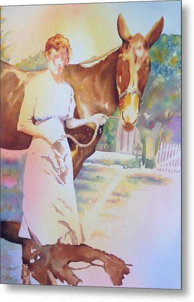 Anna Violet Stubblefield And Lightning Circa1913 Metal Print