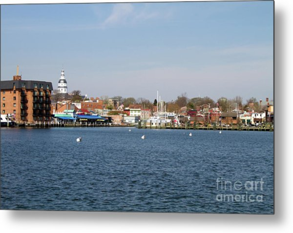 Metal Print featuring the photograph Annapolis City Skyline by Steven Frame