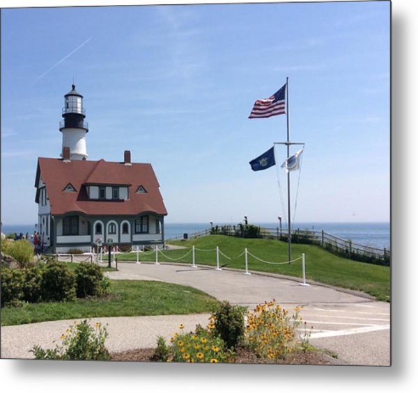 Portland Lighthouse ----- Edit Metal Print