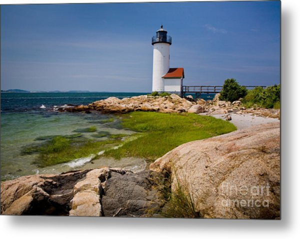 Annisquam Harbor Light Metal Print