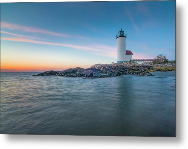 Annisquam Light In Waders Metal Print
