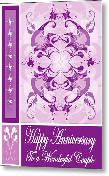 Anniversary Card 1 Metal Print by George Pasini