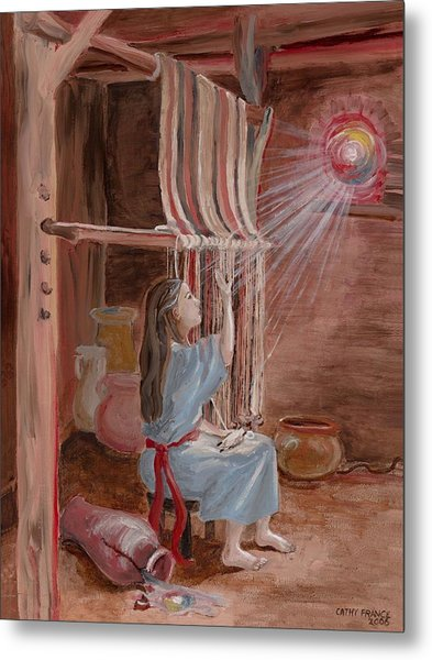 Annunciation To Mary Metal Print by Cathy France