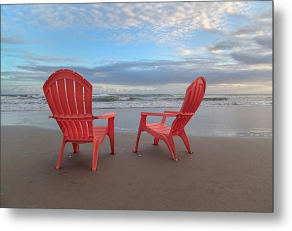 Another Busy Beach Day Metal Print