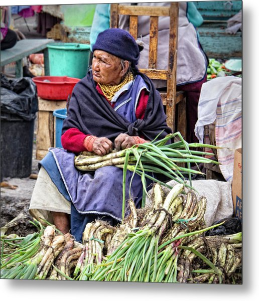 Another Day At The Market Metal Print