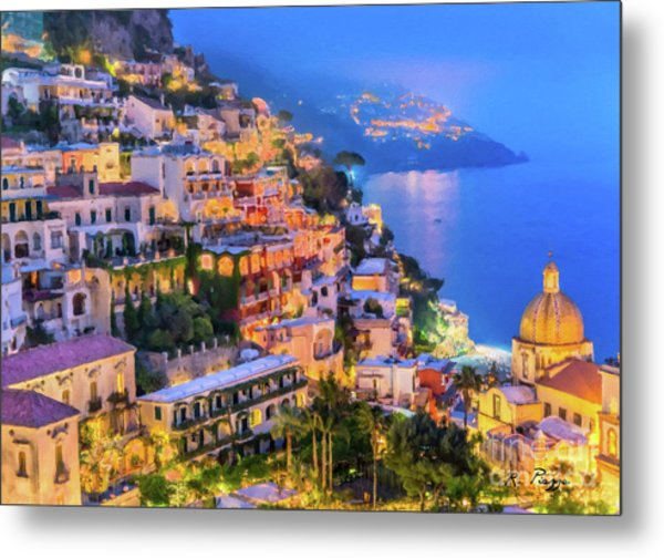 Another Glowing Evening In Positano Metal Print