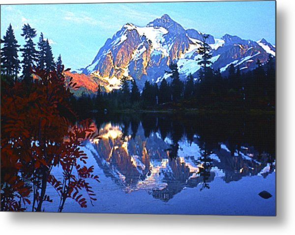 Another Shuksan Reflection Metal Print