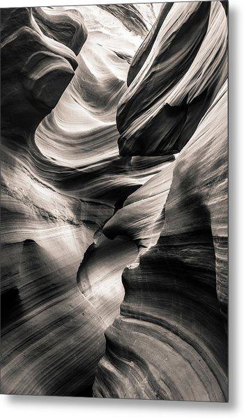 Antelope Canyon Bw Metal Print