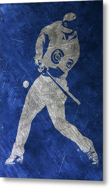 Anthony Rizzo Chicago Cubs Art Metal Print