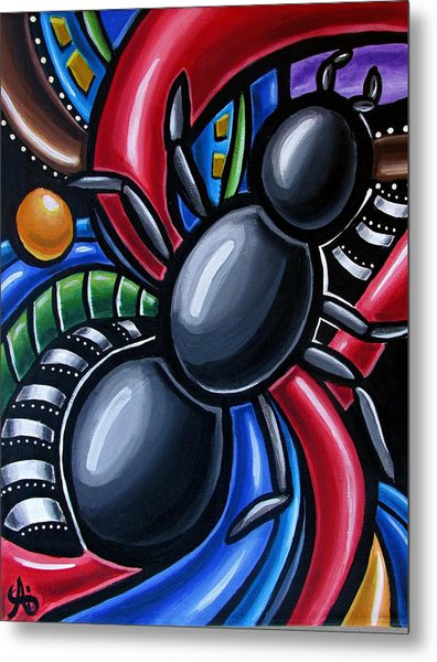 Ant Art Painting Colorful Abstract Artwork - Chromatic Acrylic Painting Metal Print