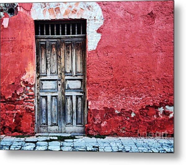 Antigua Door  Metal Print