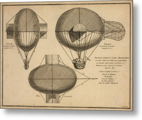 Antique Aeronautics Metal Print