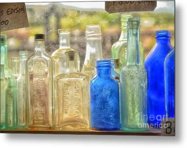 Antique Bottles Metal Print