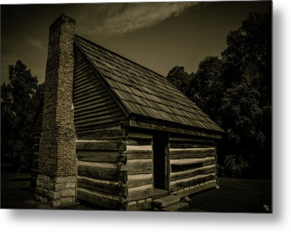 Metal Print featuring the photograph Antique Cabin - The Hermitage by James L Bartlett