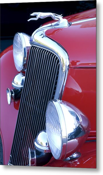 Antique Car Hood Ornament Metal Print