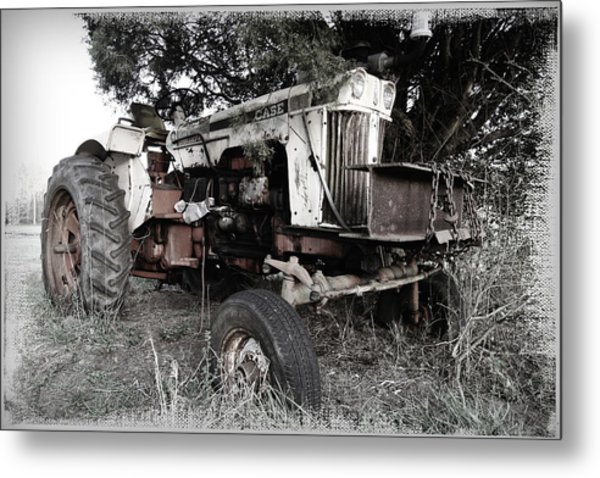 Antique Case Tractor Metal Print