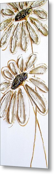 Antique Daisies Metal Print