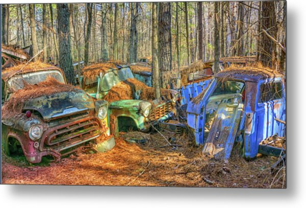 Antique Trucks Metal Print