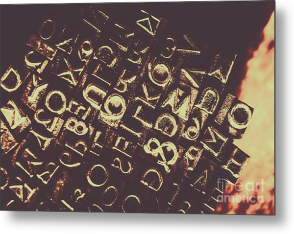 Antique Enigma Code Metal Print