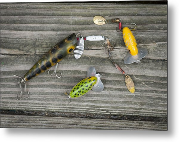 Antique Fishing Lures Metal Print