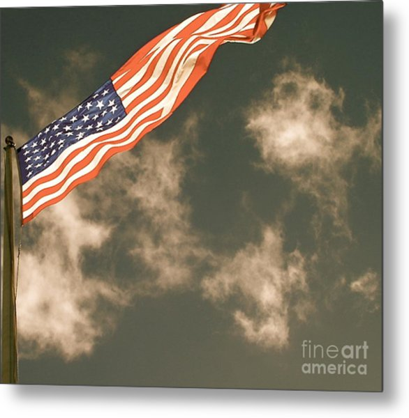 Antique Flag Metal Print