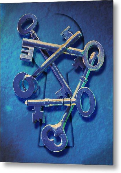 Antique Keys Metal Print