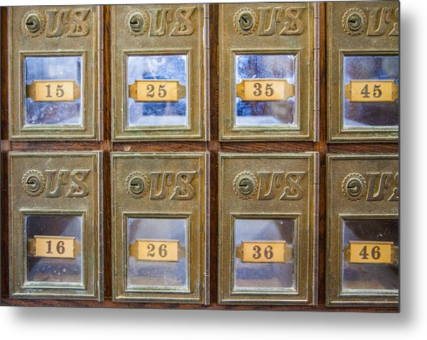 Antique Mailbox Color Metal Print