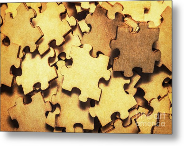 Antique Puzzle Of Missing Links Metal Print