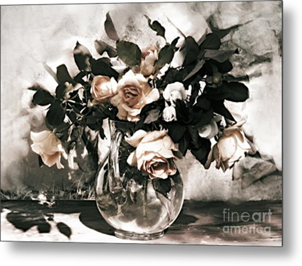 Antique Roses Metal Print
