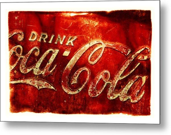 Antique Soda Cooler 2a Metal Print