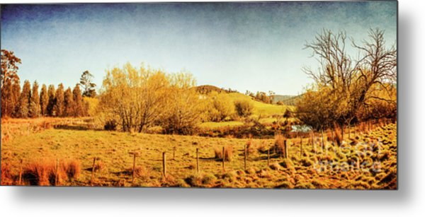 Antique Weathered Countryside Metal Print