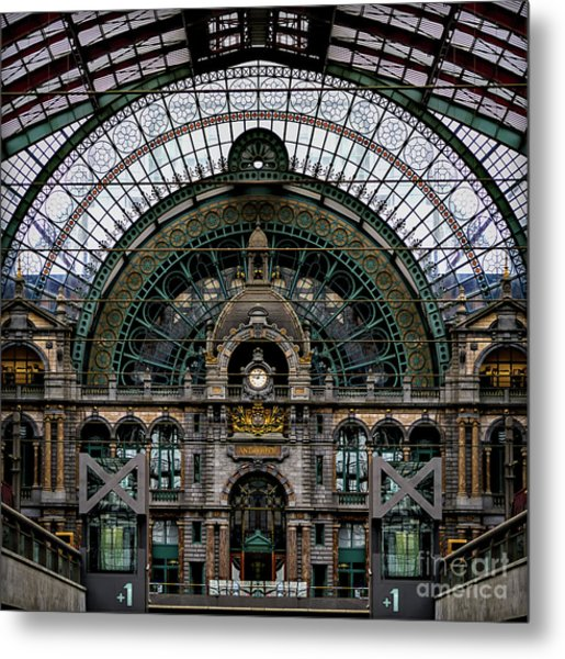 Antwerp Train Terminal Metal Print