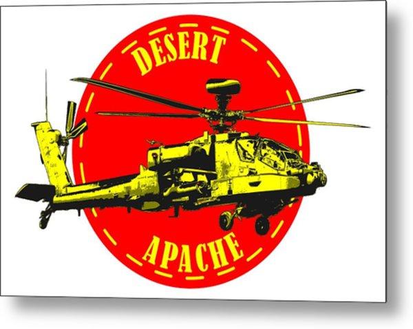 Apache On Desert Metal Print