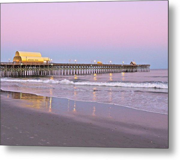 Apache Pier Sunset Metal Print