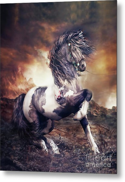 Apache War Horse Metal Print