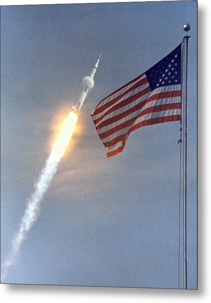 Apollo 11 Launch Metal Print
