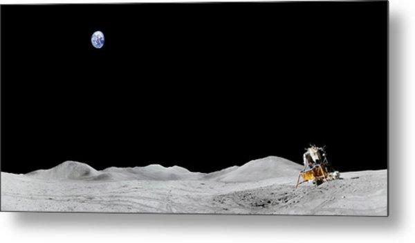 Apollo 15 Landing Site Panorama Metal Print