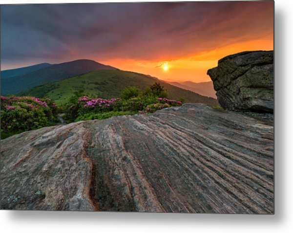 Appalachian Trail Roan Highlands Jane Bald Sunset Landscape Metal Print