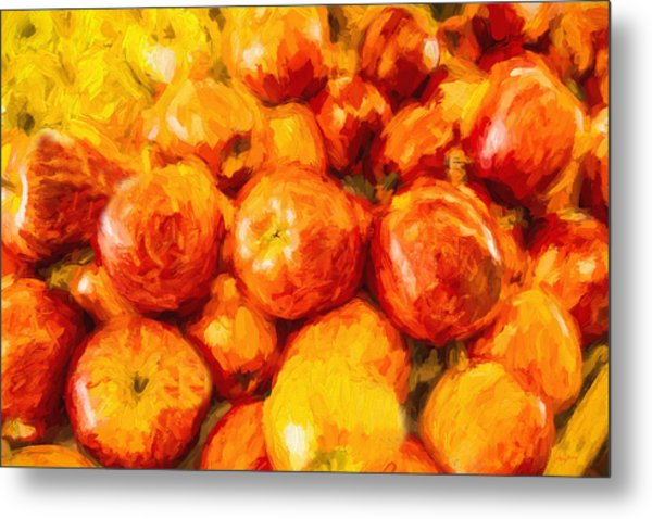 Apple A Day - Impressionism Metal Print by Barry Jones