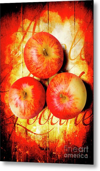 Apple Barn Artwork Metal Print
