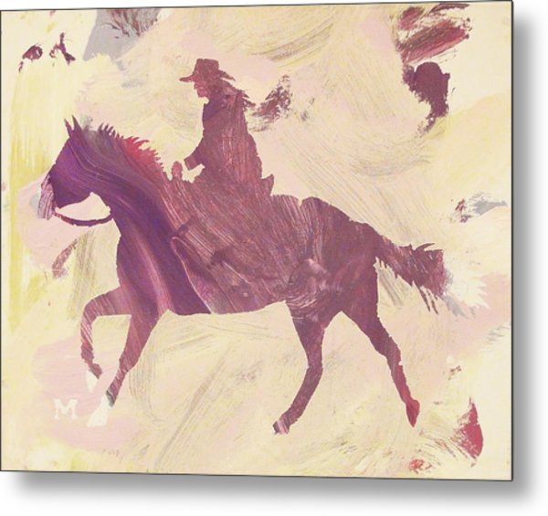 Apple Cowgirl Metal Print