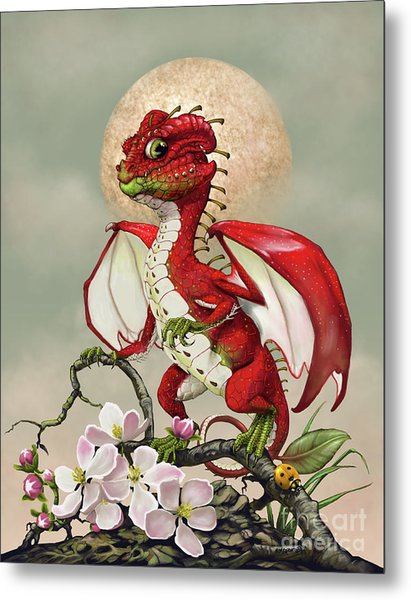Apple Dragon Metal Print