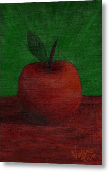 Apple Of My Eye Metal Print by Valerie Tait