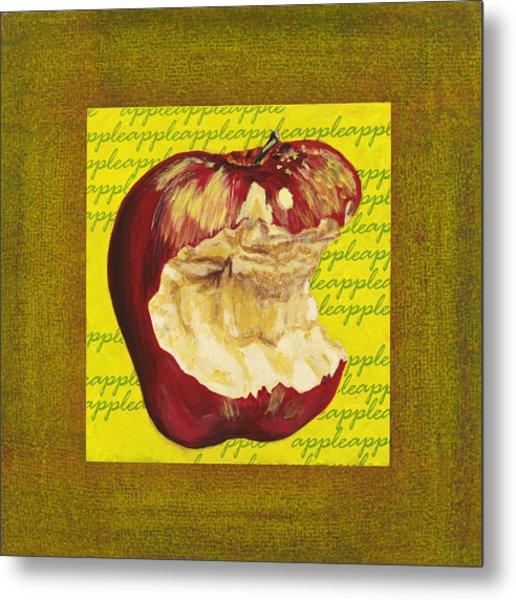 Apple Series Number Four Metal Print by Sonja Olson