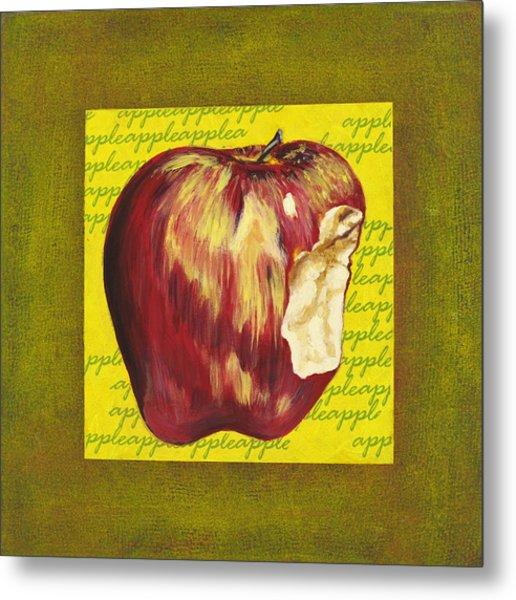 Apple Series Number Two Metal Print by Sonja Olson