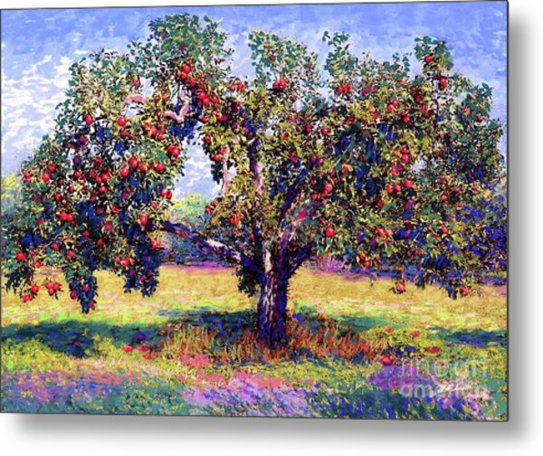 Apple Tree Orchard Metal Print