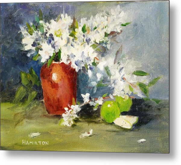 Apples And Blossoms Metal Print